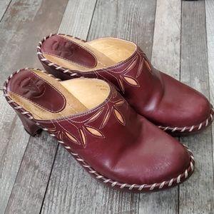 Frye Charlotte leather mules 8.5